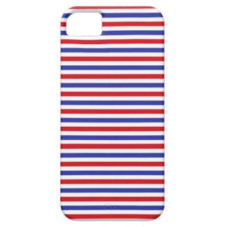 Caso del iPhone de las rayas rojas, blancas y Funda Para iPhone 5 Barely There