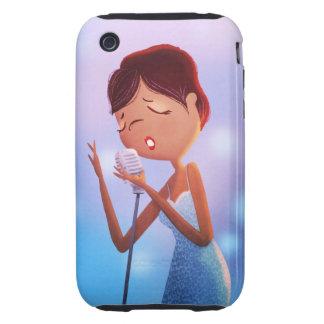 caso del iphone de los azules tough iPhone 3 coberturas