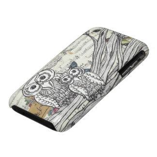 Caso del iPhone de los búhos 22 iPhone 3 Protectores