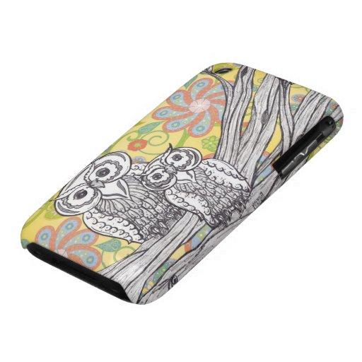Caso del iPhone de los búhos 3 Case-Mate iPhone 3 Carcasa