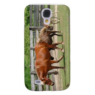 Caso del iPhone de los caballos Funda Para Galaxy S4