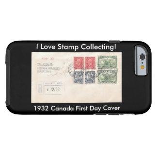 Caso del iPhone de los colectores de sello Canadá Funda Resistente iPhone 6