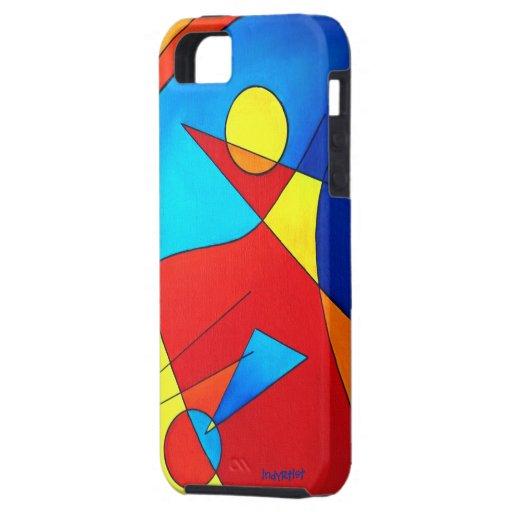 Caso del iPhone de los colores primarios Funda Para iPhone SE/5/5s