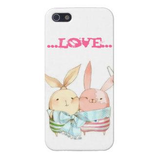 Caso del iPhone de los conejitos del amor iPhone 5 Carcasa