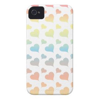 Caso del iPhone de los corazones del arco iris iPhone 4 Case-Mate Funda