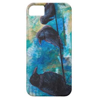 Caso del iPhone de los cuervos iPhone 5 Case-Mate Cárcasas