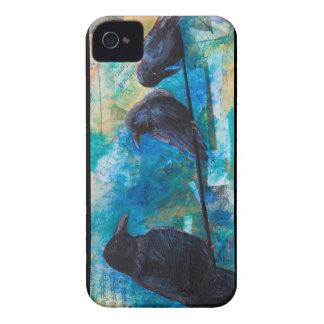 Caso del iPhone de los cuervos iPhone 4 Carcasas