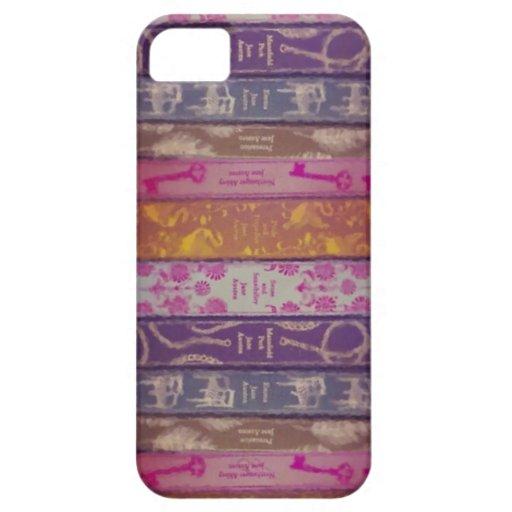 Caso del iPhone de los libros de Jane Austen iPhone 5 Case-Mate Cobertura