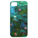 Caso del iPhone de los lirios de agua de Monet Nym iPhone 5 Protector
