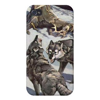Caso del iPhone de los lobos del invierno iPhone 4/4S Fundas