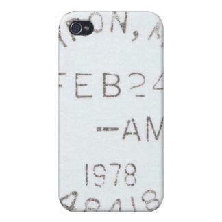 Caso del iPhone de los matasellos del vintage 1978 iPhone 4 Fundas