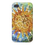 Caso del iphone de los mosaicos de Guell del parqu iPhone 4 Fundas