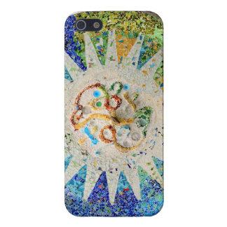 Caso del iphone de los mosaicos de Guell del parqu iPhone 5 Fundas