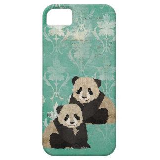 Caso del iPhone de los osos de panda del vintage iPhone 5 Case-Mate Cobertura