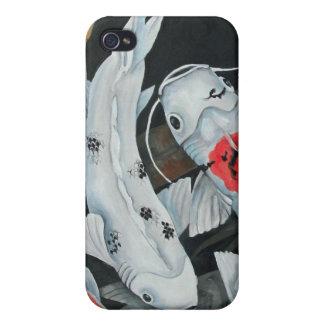 Caso del iPhone de los pescados de Koi 9 iPhone 4/4S Carcasa