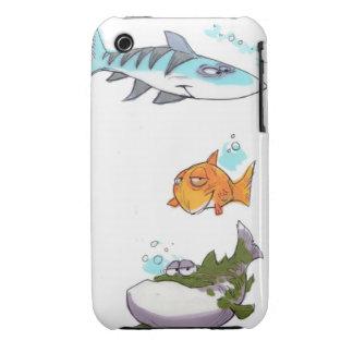 Caso del iPhone de los pescados iPhone 3 Case-Mate Cárcasas