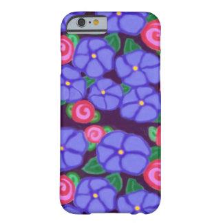 Caso del iPhone de los rosas y de las violetas Funda Para iPhone 6 Barely There