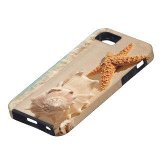 Caso del iphone de los seashells de la playa del v iPhone 5 Case-Mate protectores
