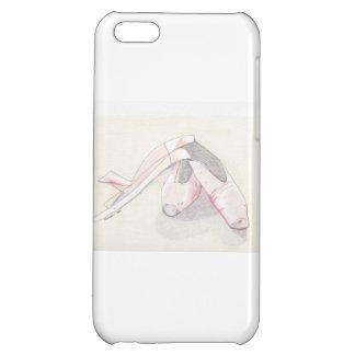 Caso del iPhone de los zapatos de ballet