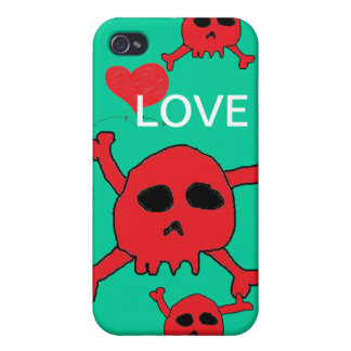 Caso del iphone de Lovin Skulles iPhone 4 Carcasa