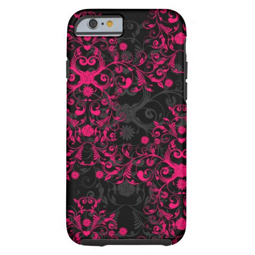 Caso del iPhone de lujo 6 de las rosas fuertes y Funda De iPhone 6 Tough