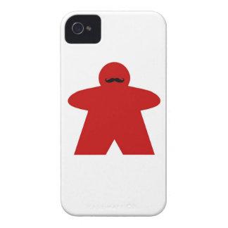 Caso del iphone de Meeple del bigote Carcasa Para iPhone 4