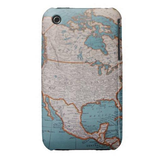 Caso del iphone de Norteamérica 3G del vintage Case-Mate iPhone 3 Funda