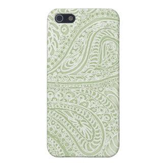 Caso del iphone de Paisley del batik del helecho p iPhone 5 Carcasas