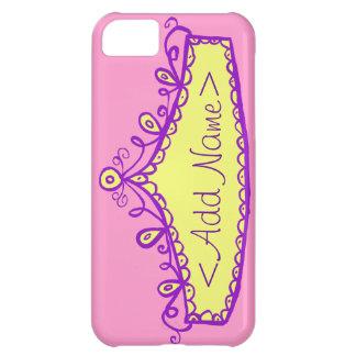Caso del iPhone de princesa Tiara Crown Custom Carcasa iPhone 5C