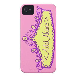 Caso del iPhone de princesa Tiara Crown Custom Carcasa Para iPhone 4 De Case-Mate