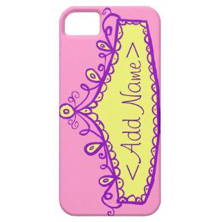 Caso del iPhone de princesa Tiara Crown Custom Funda Para iPhone SE/5/5s