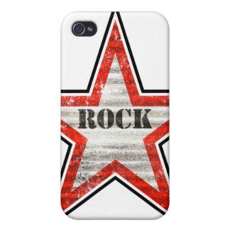Caso del iPhone de Rockstar fondo blanco iPhone 4 Cobertura