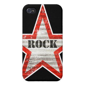 Caso del iPhone de Rockstar fondo negro iPhone 4/4S Carcasa