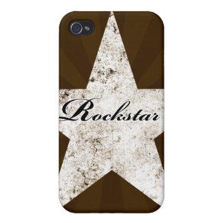Caso del iPhone de Rockstar texturas del grunge - iPhone 4 Cobertura