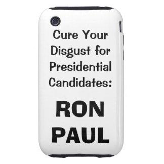 Caso del iphone de Ron Paul en blanco iPhone 3 Tough Coberturas