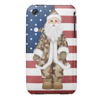 Caso del iPhone de Santa Barely There 3G/3GS del Case-Mate iPhone 3 Protectores