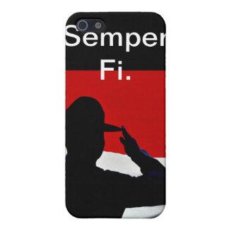 Caso del iphone de Semper Fi iPhone 5 Carcasas