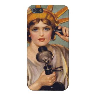 Caso del iPhone de señora Liberty Telephone del vi iPhone 5 Coberturas