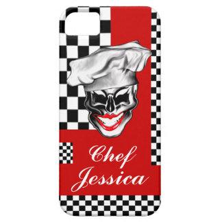 Caso del iPhone de señora Skull Chef iPhone 5 Carcasas