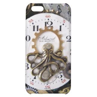 Caso del iphone de Steampunk del reloj de bolsillo