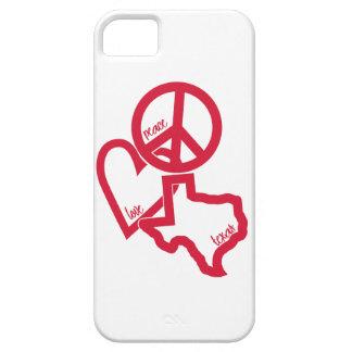 Caso del iPhone de Tejas del amor de la paz iPhone 5 Carcasa