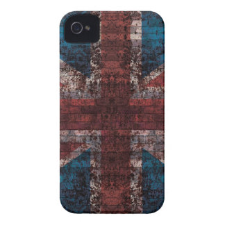 Caso del iPhone de Union Jack del ladrillo del iPhone 4 Protectores