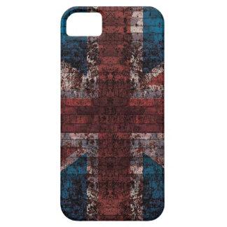 Caso del iPhone de Union Jack del ladrillo del iPhone 5 Funda