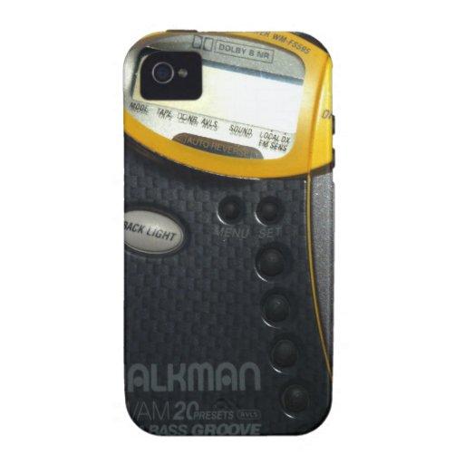 Caso del iPhone de Walkman de la escuela vieja Vibe iPhone 4 Carcasa