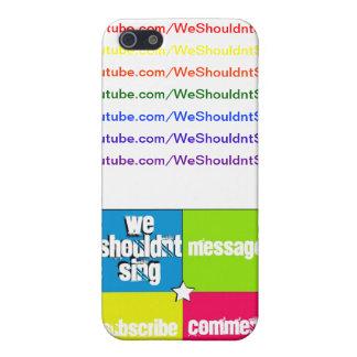 Caso del iPhone de WeShouldntSing iPhone 5 Coberturas