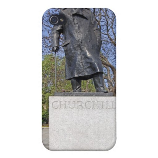 caso del iPhone de Winston Churchill Londres iPhone 4/4S Funda