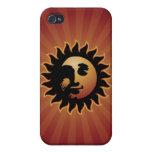 Caso del iphone del acto secundario Mr.Sun iPhone 4/4S Carcasas