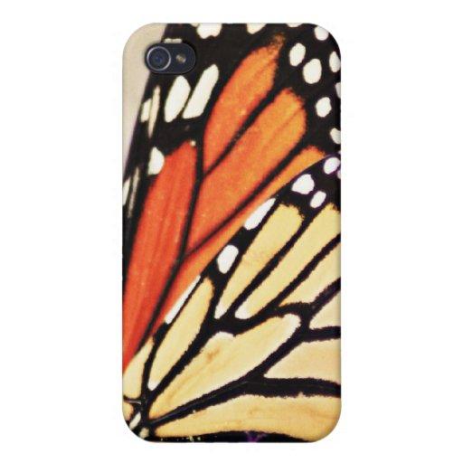Caso del iPhone del ala de la mariposa de monarca iPhone 4 Carcasa
