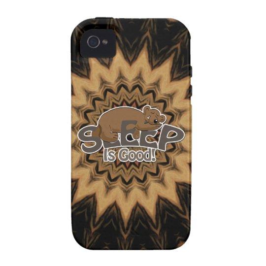 Caso del iPhone del ambiente del oso el dormir Carcasa Case-Mate Para iPhone 4