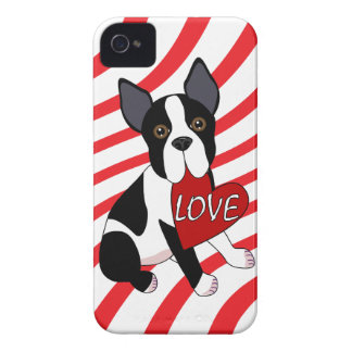 Caso del iPhone del amor de Boston Terrier Carcasa Para iPhone 4 De Case-Mate